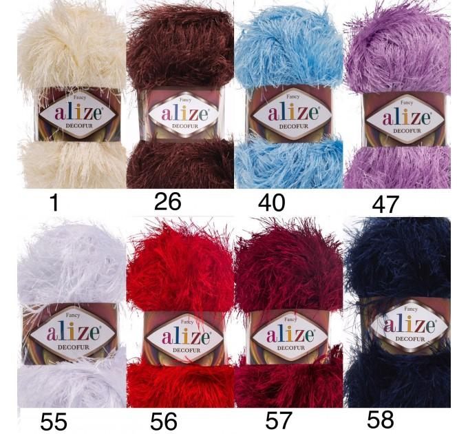 ALIZE DECOFUR Yarn Eyelash Yarn Shaggy Yarn Faux Fur Perfect For Clothes Decoration Carnival Costumes Sparkle Crochet Shawl Scarf Fur Yarn  Yarn  2