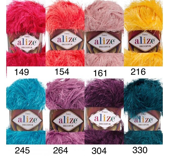 ALIZE DECOFUR Yarn Eyelash Yarn Shaggy Yarn Faux Fur Perfect For Clothes Decoration Carnival Costumes Sparkle Crochet Shawl Scarf Fur Yarn  Yarn  4