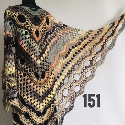 Beige Crochet Shawl Wrap Fringe Gray Triangle Boho Shawl Colorful Rainbow Shawl Big Multicolor Hand Knitted Evening Shawl Black Green Blue