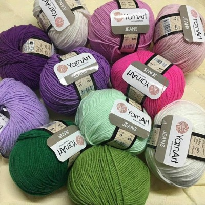 YARNART JEANS yarn cotton acrylic yarn Hypoallergenic yarn knitting cotton crochet yarn fiber classic yarn Turkish yarn amigurumi yarn