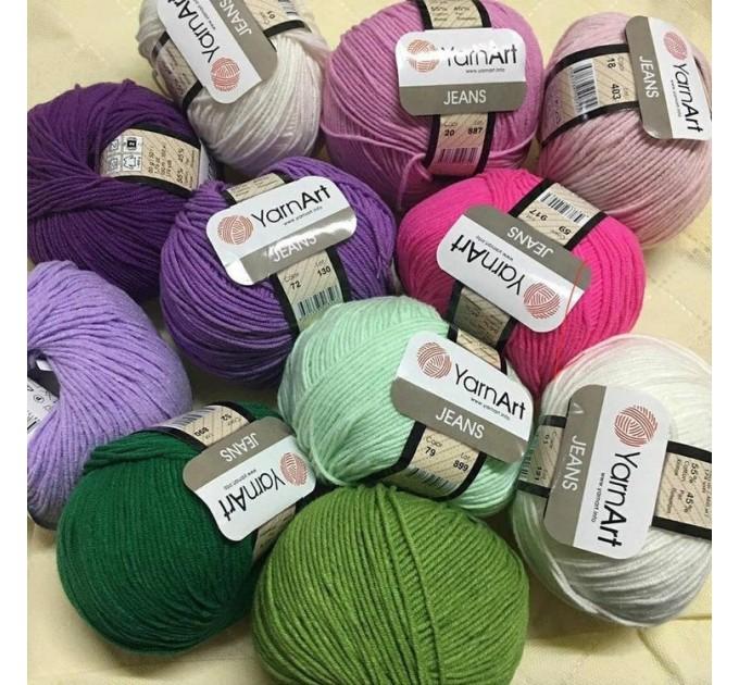 YARNART JEANS yarn cotton acrylic yarn Hypoallergenic yarn knitting cotton crochet yarn fiber classic yarn Turkish yarn amigurumi yarn  Yarn  1