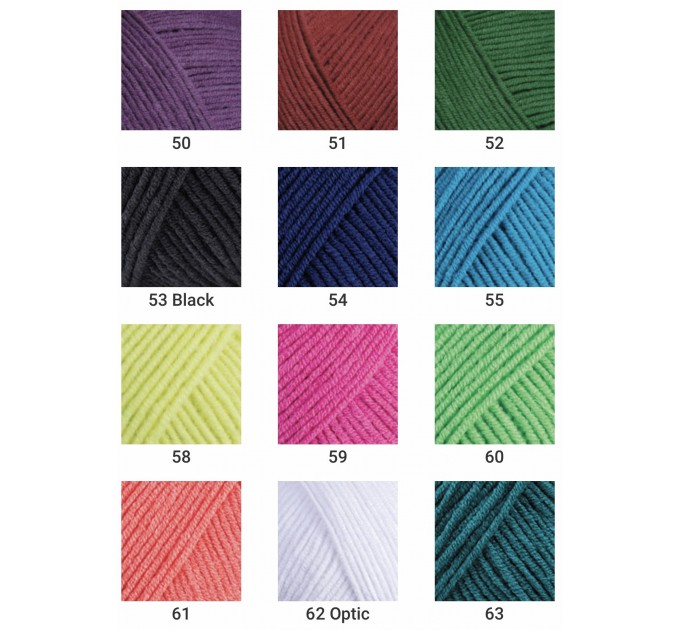 YARNART JEANS yarn cotton acrylic yarn Hypoallergenic yarn knitting cotton crochet yarn fiber classic yarn Turkish yarn amigurumi yarn  Yarn  4