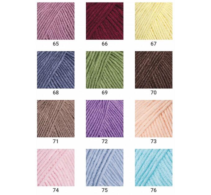 YARNART JEANS yarn cotton acrylic yarn Hypoallergenic yarn knitting cotton crochet yarn fiber classic yarn Turkish yarn amigurumi yarn  Yarn  5