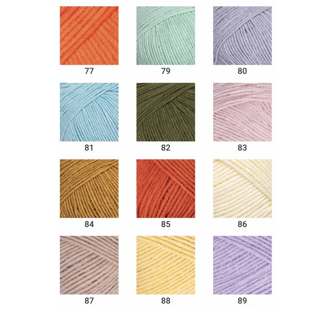 YARNART JEANS yarn cotton acrylic yarn Hypoallergenic yarn knitting cotton crochet yarn fiber classic yarn Turkish yarn amigurumi yarn  Yarn  6