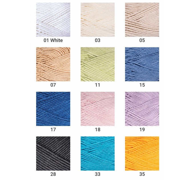 YarnArt JEANS PLUS Cotton Yarn soft yarn spring yarn crochet cotton yarn Hypoallergenic summer yarn hand knit yarn acrylic yarncolor choice  Yarn  2
