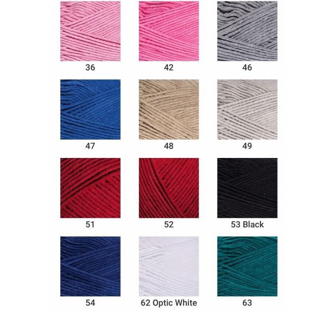YarnArt JEANS PLUS Cotton Yarn soft yarn spring yarn crochet cotton yarn Hypoallergenic summer yarn hand knit yarn acrylic yarncolor choice  Yarn  1