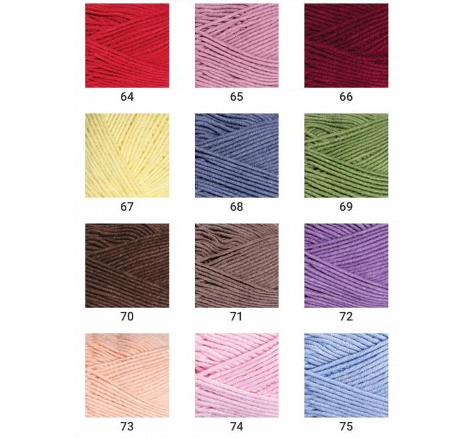 YarnArt JEANS PLUS Cotton Yarn soft yarn spring yarn crochet cotton yarn Hypoallergenic summer yarn hand knit yarn acrylic yarncolor choice  Yarn  4