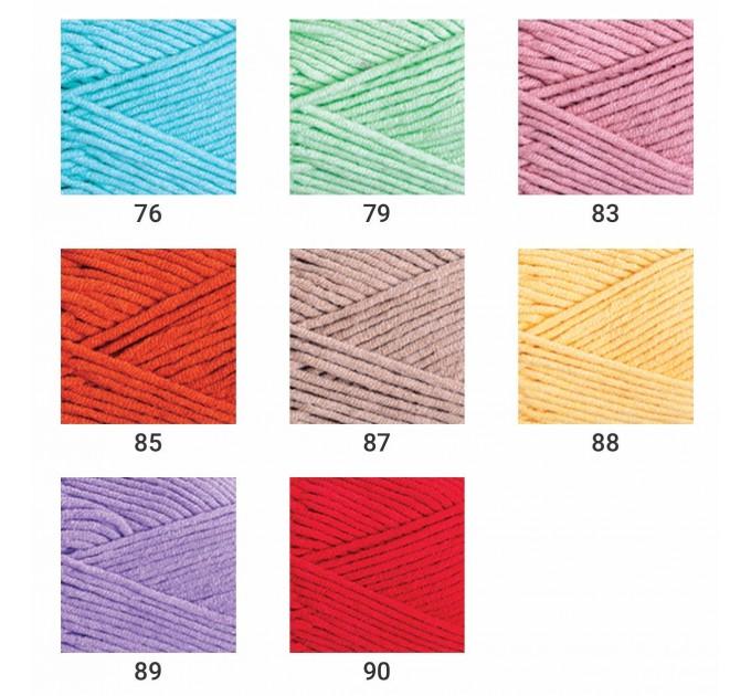 YarnArt JEANS PLUS Cotton Yarn soft yarn spring yarn crochet cotton yarn Hypoallergenic summer yarn hand knit yarn acrylic yarncolor choice  Yarn  5