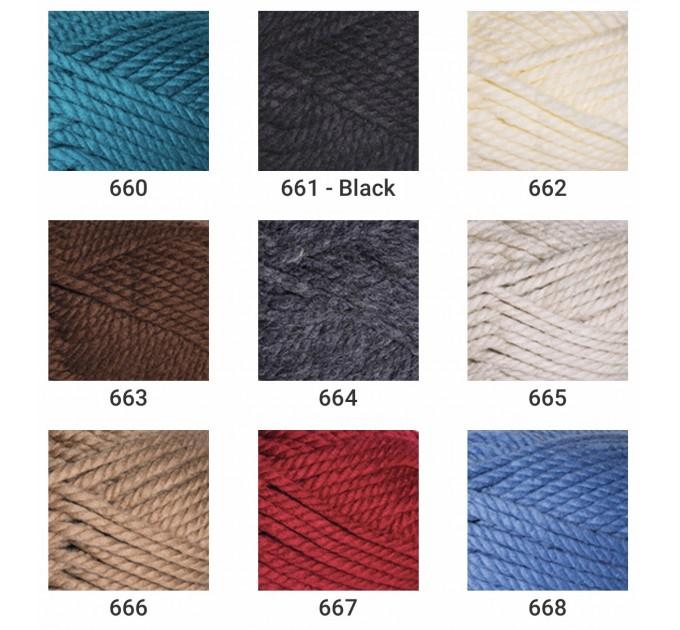 YARNART ALPINE MAXI Yarn, 250 gr. - 105 m Chunky Wool Yarn, Acrylic Wool Yarn, Super Chunky Yarn, Big Yarn, Wool Yarn, Super Bulky Yarn  Yarn  4