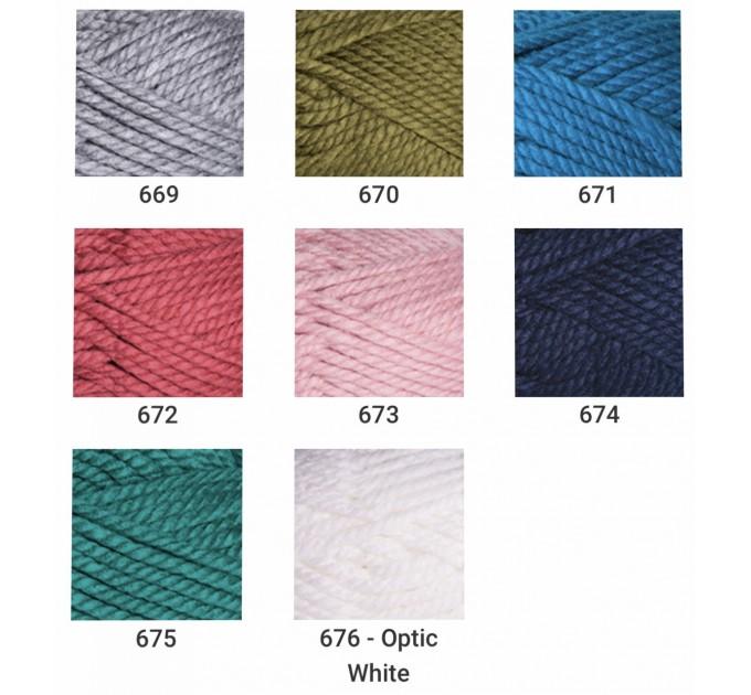 YARNART ALPINE MAXI Yarn, 250 gr. - 105 m Chunky Wool Yarn, Acrylic Wool Yarn, Super Chunky Yarn, Big Yarn, Wool Yarn, Super Bulky Yarn  Yarn  2