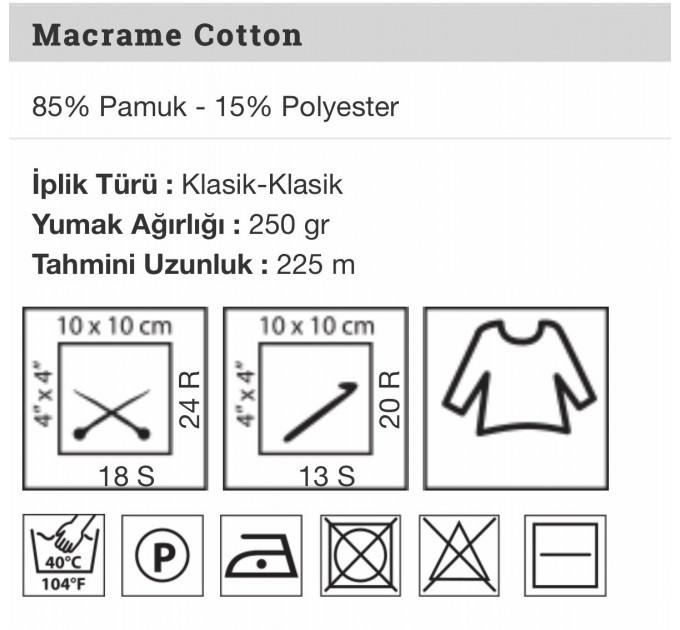 YarArt MACRAME COTTON Yarn, Cotton Yarn, Cotton cord, Macrame yarn, Crochet Rugs, Cord Yarn, Rug Yarn Macrame Cord Macrame Rope, Macrame Bag  Yarn  4