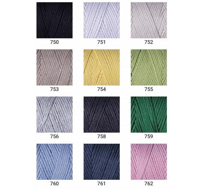 YarArt MACRAME COTTON Yarn, Cotton Yarn, Cotton cord, Macrame yarn, Crochet Rugs, Cord Yarn, Rug Yarn Macrame Cord Macrame Rope, Macrame Bag  Yarn  5