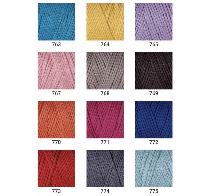 YarArt MACRAME COTTON Yarn, Cotton Yarn, Cotton cord, Macrame yarn, Crochet Rugs, Cord Yarn, Rug Yarn Macrame Cord Macrame Rope, Macrame Bag  Yarn  1