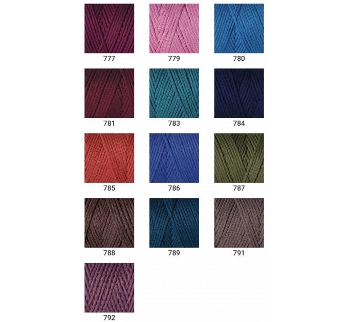 YarArt MACRAME COTTON Yarn, Cotton Yarn, Cotton cord, Macrame yarn, Crochet Rugs, Cord Yarn, Rug Yarn Macrame Cord Macrame Rope, Macrame Bag  Yarn  3