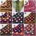 Crochet Shawl Fringe Wraps OOAK Boho Lace Triangle Warm Rainbow Shawl Mom Scarf Women Floral Hand Knit pin brooch, Large Big Outlander Green  Shawl / Wraps  10