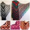 Crochet Shawl Wrap Multicolor Triangle Scarf Boho Colorful Rainbow Shawl Fringe Big Lace Hand Knitted Shawl Evening Shawl Red Blue Green