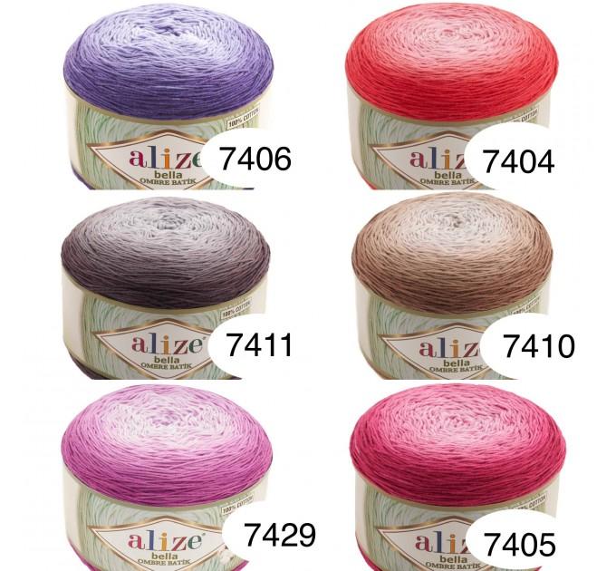 Alize BELLA OMBRE BATIK Yarn 250 gr 100 Organic Cotton Yarn knitting yarn, Crochet vegan yarn Soft Gradient yarn Summer Baby amigurumi yarn  Yarn  3
