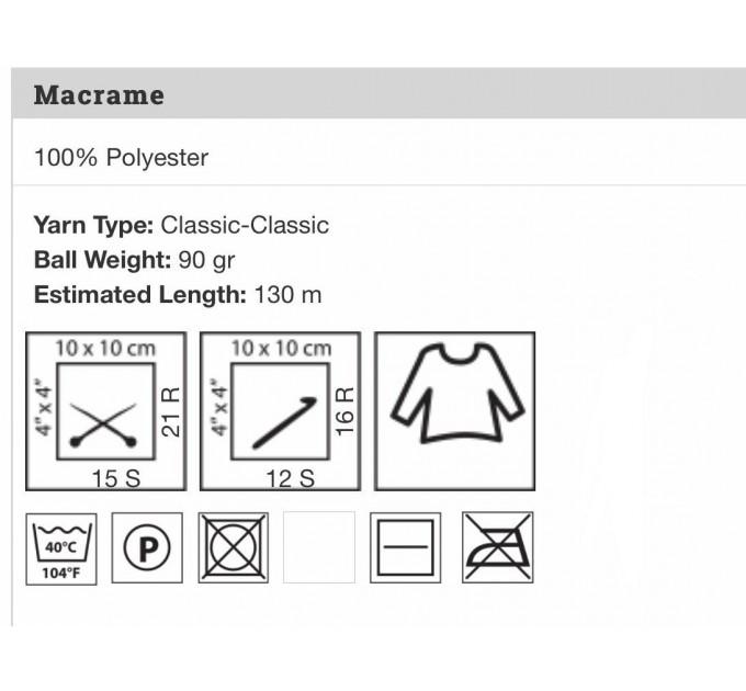 YarArt MACRAME Yarn, Cord Yarn, Macrame yarn, Crochet Rugs, Rug Yarn, Macrame Cord, Macrame Rope, Macrame Bag  Yarn  5