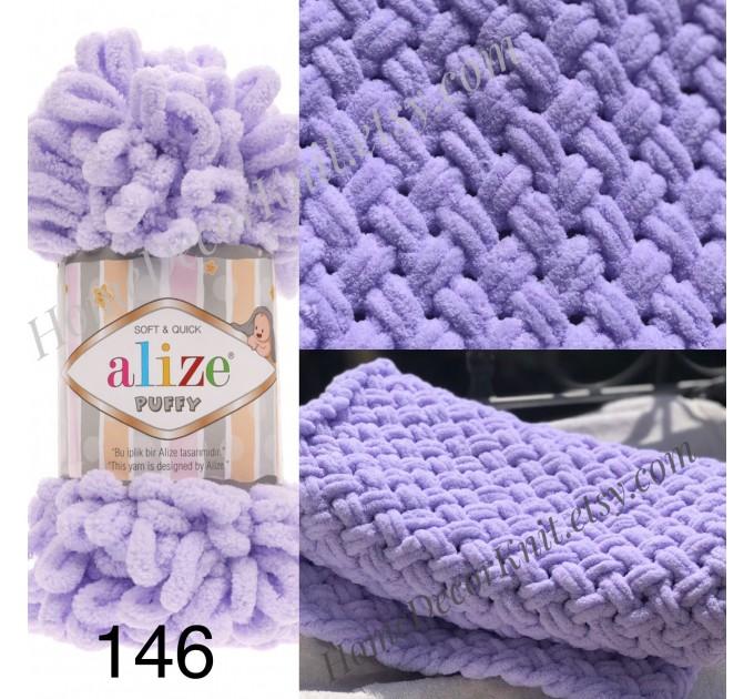 ALIZE PUFFY Yarn, Gradient Rainbow Plush Baby blanket yarn No hook No neddle Yarn on the fingers, Finger yarn, Velvet Super chunky yarn  Yarn  3