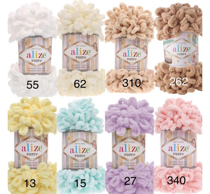 ALIZE PUFFY Yarn, Gradient Rainbow Plush Baby blanket yarn No hook No neddle Yarn on the fingers, Finger yarn, Velvet Super chunky yarn  Yarn  1