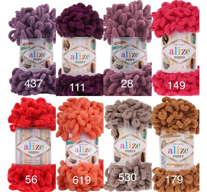 ALIZE PUFFY Yarn, Gradient Rainbow Plush Baby blanket yarn No hook No neddle Yarn on the fingers, Finger yarn, Velvet Super chunky yarn  Yarn  6