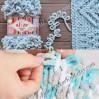 ALIZE PUFFY FINE Yarn, Crochet Yarn Gradient Baby Rainbow Blanket Yarn, No hook No neddle Easy Knitting Yarn, Velvet Bulky Super Chunky Yarn