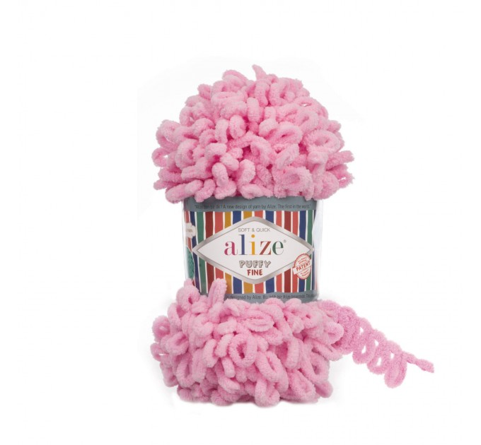 ALIZE PUFFY FINE Yarn, Crochet Yarn Gradient Baby Rainbow Blanket Yarn, No hook No neddle Easy Knitting Yarn, Velvet Bulky Super Chunky Yarn  Yarn  1