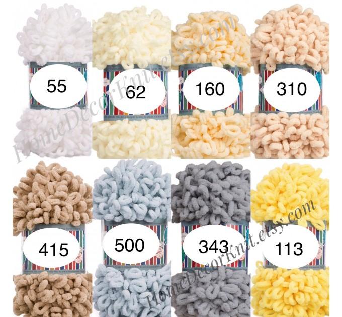 ALIZE PUFFY FINE Yarn, Crochet Yarn Gradient Baby Rainbow Blanket Yarn, No hook No neddle Easy Knitting Yarn, Velvet Bulky Super Chunky Yarn  Yarn  3
