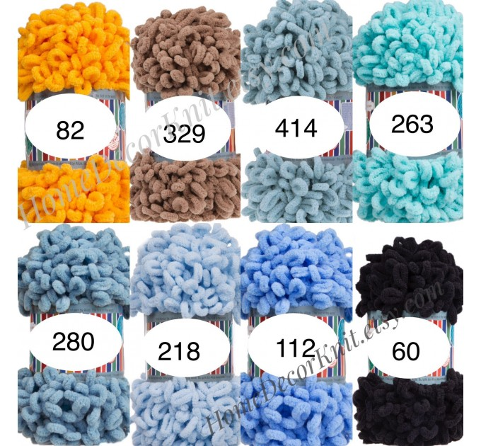 ALIZE PUFFY FINE Yarn, Crochet Yarn Gradient Baby Rainbow Blanket Yarn, No hook No neddle Easy Knitting Yarn, Velvet Bulky Super Chunky Yarn  Yarn  4