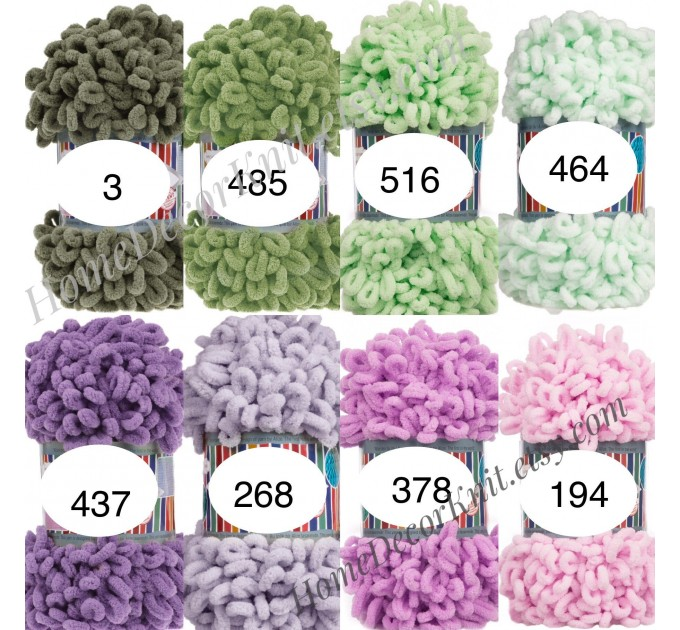 ALIZE PUFFY FINE Yarn, Crochet Yarn Gradient Baby Rainbow Blanket Yarn, No hook No neddle Easy Knitting Yarn, Velvet Bulky Super Chunky Yarn  Yarn  5