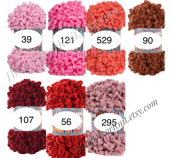 ALIZE PUFFY FINE Yarn, Crochet Yarn Gradient Baby Rainbow Blanket Yarn, No hook No neddle Easy Knitting Yarn, Velvet Bulky Super Chunky Yarn  Yarn  6