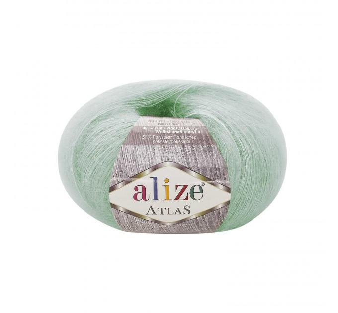 ALIZE ATLAS Yarn Mohair Wool Yarn Lace Yarn Multicolor Crochet Shawl Soft Yarn Fluffy Thread Knitting Shawl Scarf Hat Poncho  Yarn  1