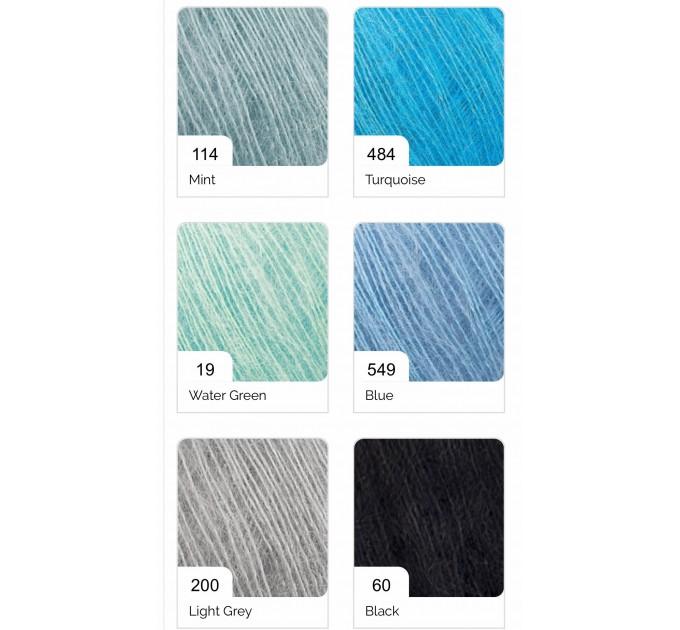 ALIZE ATLAS Yarn Mohair Wool Yarn Lace Yarn Multicolor Crochet Shawl Soft Yarn Fluffy Thread Knitting Shawl Scarf Hat Poncho  Yarn  3