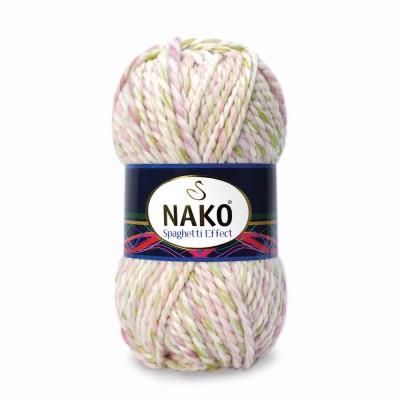 NAKO SPAGHETTI EFFECT Yarn Multicolor Wool Yarn Acrylic Gradient Rainbow Yarn Knitting Scarf Hat Sweater Poncho Crochet Shawl Socks Cardigan