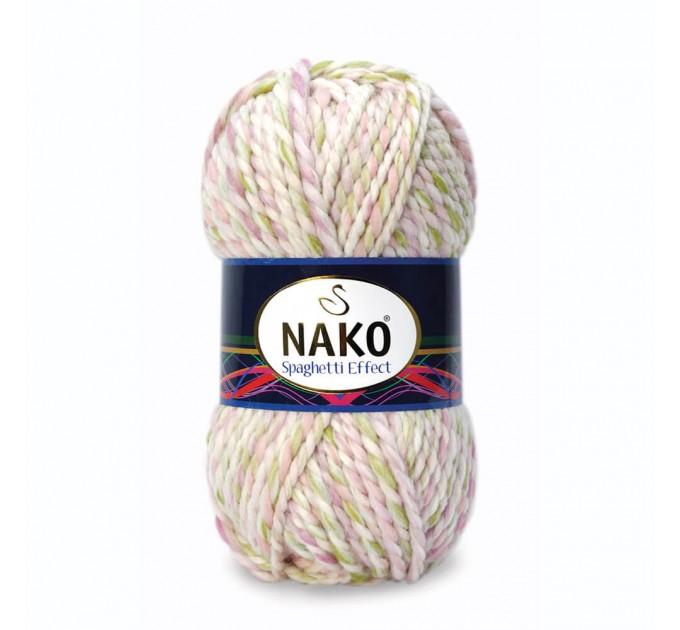 NAKO SPAGHETTI EFFECT Yarn Multicolor Wool Yarn Acrylic Gradient Rainbow Yarn Knitting Scarf Hat Sweater Poncho Crochet Shawl Socks Cardigan  Yarn