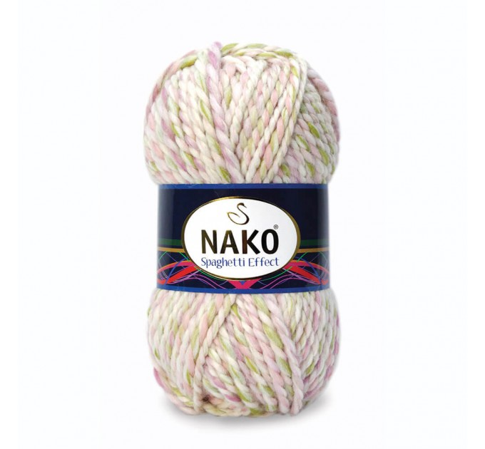 NAKO SPAGHETTI EFFECT Yarn Multicolor Wool Yarn Acrylic Gradient Rainbow Yarn Knitting Scarf Hat Sweater Poncho Crochet Shawl Socks Cardigan  Yarn  5