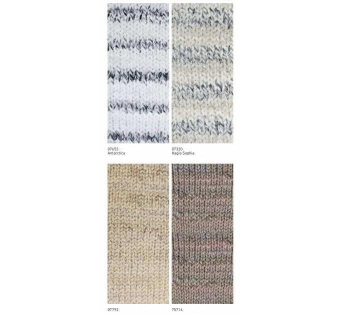 NAKO SPAGHETTI EFFECT Yarn Multicolor Wool Yarn Acrylic Gradient Rainbow Yarn Knitting Scarf Hat Sweater Poncho Crochet Shawl Socks Cardigan  Yarn  3