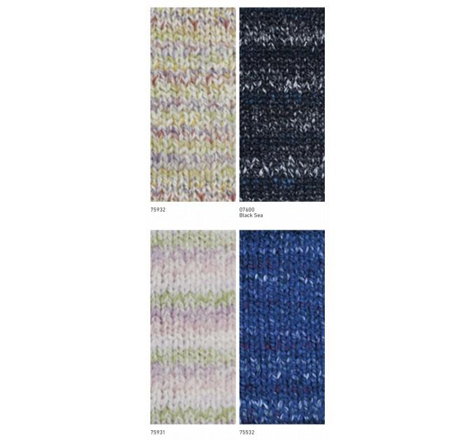 NAKO SPAGHETTI EFFECT Yarn Multicolor Wool Yarn Acrylic Gradient Rainbow Yarn Knitting Scarf Hat Sweater Poncho Crochet Shawl Socks Cardigan  Yarn  2