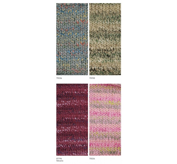 NAKO SPAGHETTI EFFECT Yarn Multicolor Wool Yarn Acrylic Gradient Rainbow Yarn Knitting Scarf Hat Sweater Poncho Crochet Shawl Socks Cardigan  Yarn  6