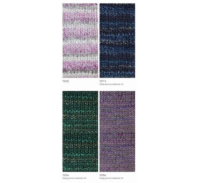 NAKO SPAGHETTI EFFECT Yarn Multicolor Wool Yarn Acrylic Gradient Rainbow Yarn Knitting Scarf Hat Sweater Poncho Crochet Shawl Socks Cardigan  Yarn  7