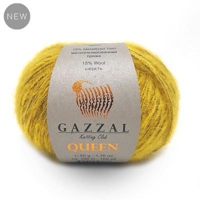 GAZZAL QUEEN Yarn Wool Yarn Metallic Yarn Knitting Scarf Cardigan Poncho Crochet Pullover Shawl Sweater Hat