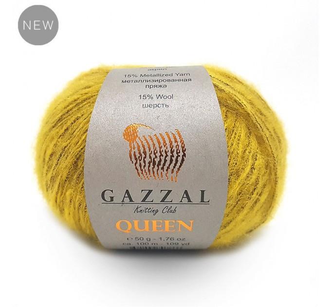 GAZZAL QUEEN Yarn Wool Yarn Metallic Yarn Knitting Scarf Cardigan Poncho Crochet Pullover Shawl Sweater Hat  Yarn