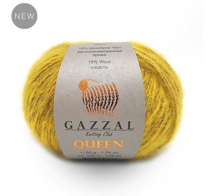 GAZZAL QUEEN Yarn Wool Yarn Metallic Yarn Knitting Scarf Cardigan Poncho Crochet Pullover Shawl Sweater Hat  Yarn  1