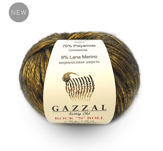 GAZZAL ROCK N ROLL Yarn Wool Yarn Shiny Yarn Crochet Sweater Pullover Shawl Hat Knitting Scarf Cardigan Poncho  Yarn