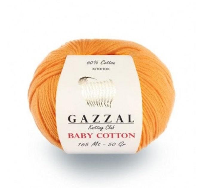GAZZAL BABY COTTON Yarn Organic Cotton Yarn Vegan Hypoallergenic Yarn Amigurumi Baby Yarn Booties Crochet Sweater Poncho Pullover  Yarn