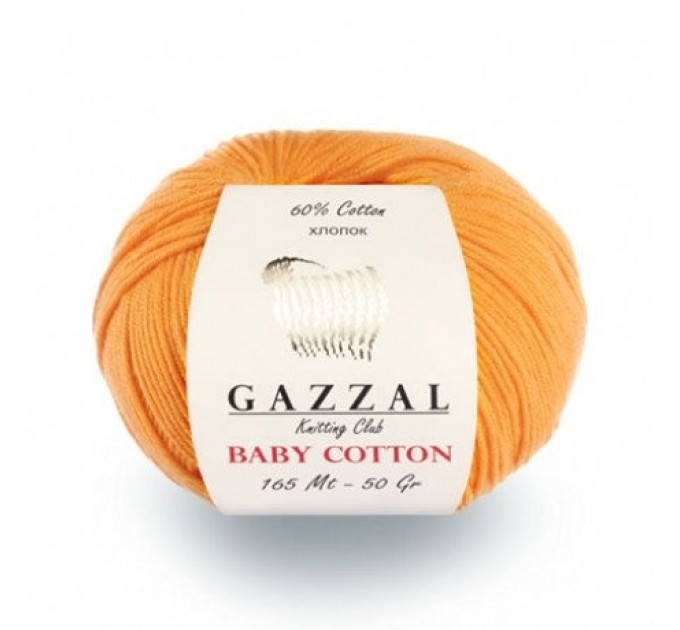 GAZZAL BABY COTTON Yarn Organic Cotton Yarn Vegan Hypoallergenic Yarn Amigurumi Baby Yarn Booties Crochet Sweater Poncho Pullover  Yarn  1