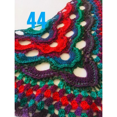 Crochet Shawl Wraps Outlander knitted festival woman Burnt Orange Triangle Scarf Fringe Multicolor Lace Evening Shawl Green Blue Red