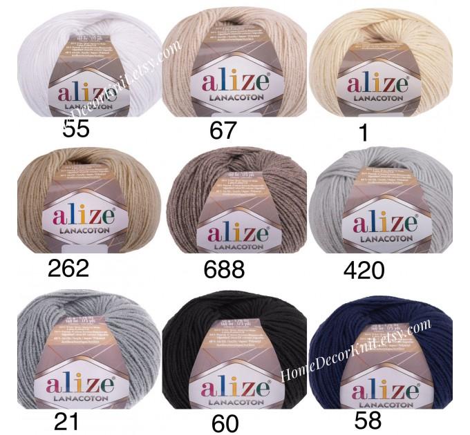ALIZE LANACOTON Yarn Wool Yarn Cotton Yarn Multicolor Yarn Acrylic Crochet Yarn Knitting Sweater Shawl Cardigan Poncho  Yarn  2