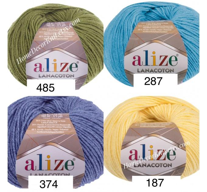ALIZE LANACOTON Yarn Wool Yarn Cotton Yarn Multicolor Yarn Acrylic Crochet Yarn Knitting Sweater Shawl Cardigan Poncho  Yarn  4