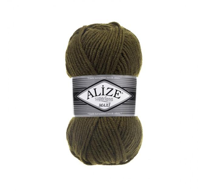 ALIZE SUPERLANA MAXI Yarn Wool Yarn Super Bulky Yarn Super Chunky Yarn Multicolor Yarn Bulky Wool Yarn Chunky Crochet Scarf Hat Poncho  Yarn